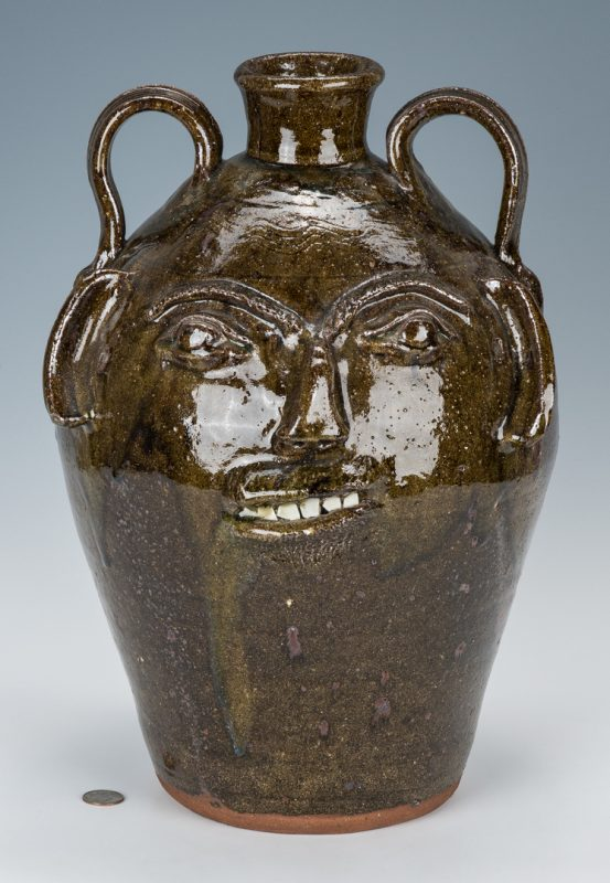 Lot 642: Large Burlon Craig Folk Face Vessel