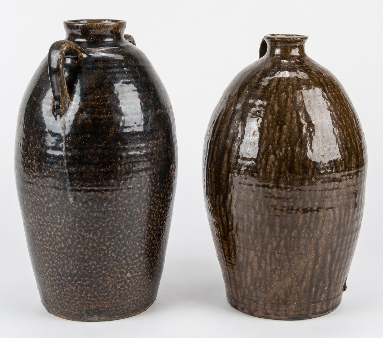 Lot 644: 2 Large Western NC Alkaline Glazed Pottery Jars