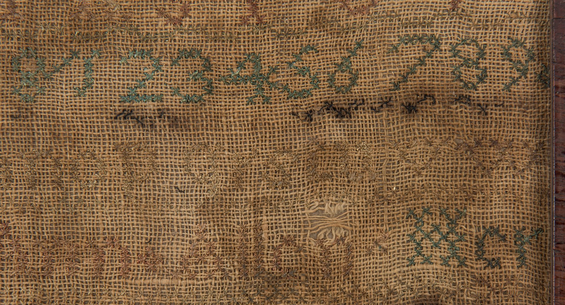 Lot 648: Kentucky House Sampler and Needlework Picture