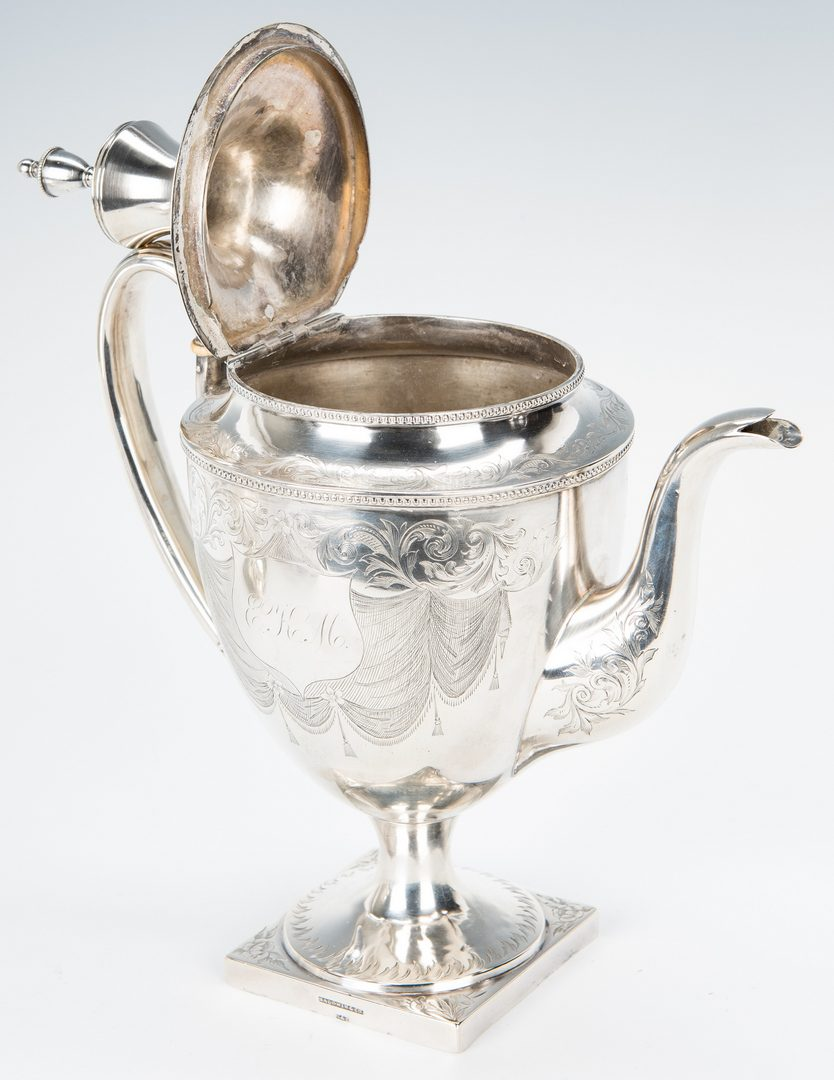 Lot 64: Federal Coin Silver Sugar Bowl and Tea Pot
