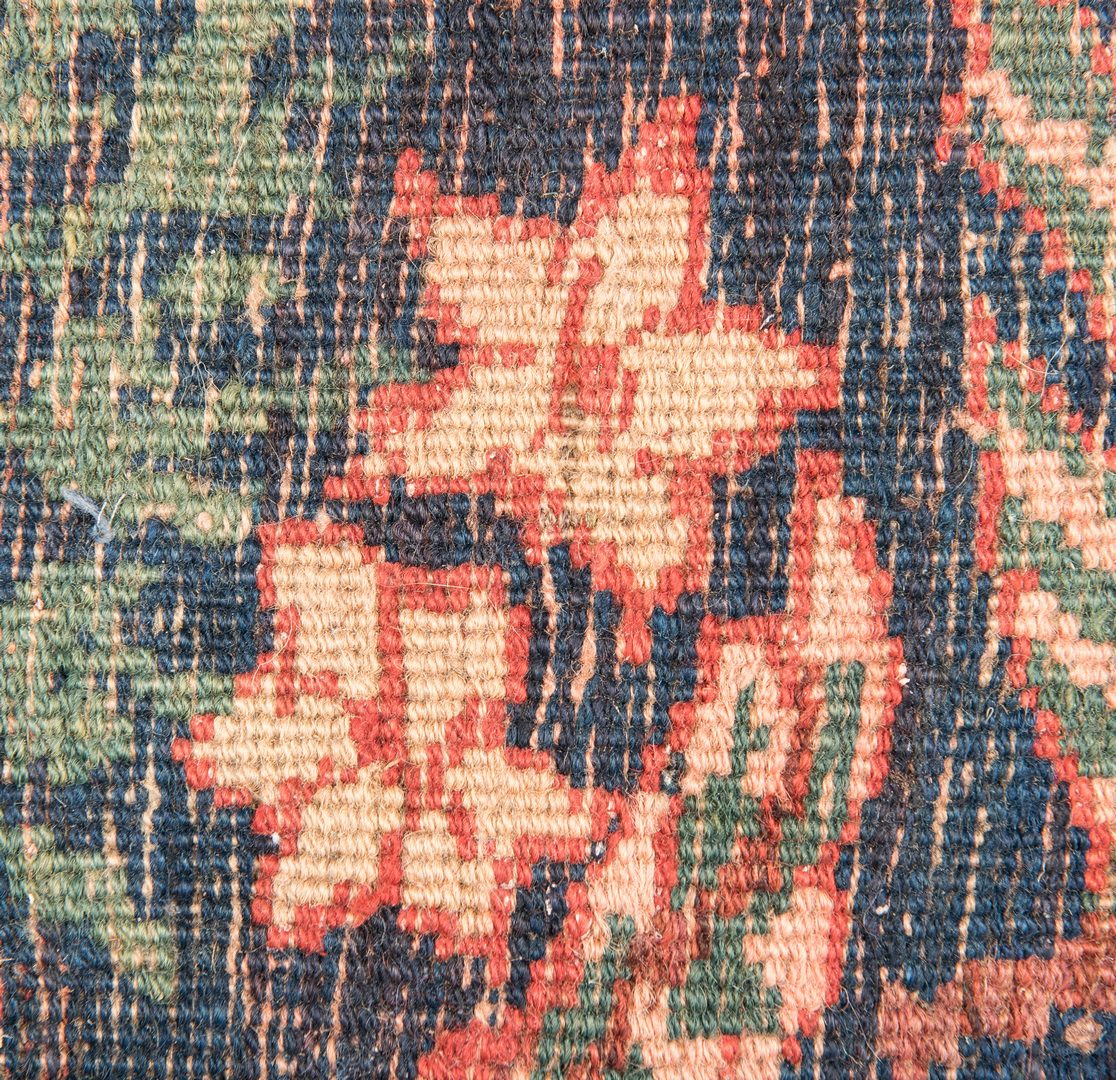 """Lot 650: Antique Bidjar area rug, 9'2"""" x 5'8"""""""