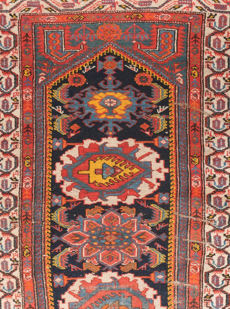 """Lot 653: Antique Kurdish Hamadan Runner, 12'4"""" x 3'3"""""""