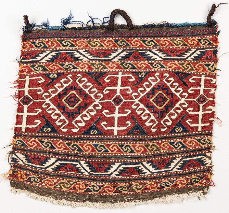 Lot 655: Group 3 Antique Persian Bag Faces