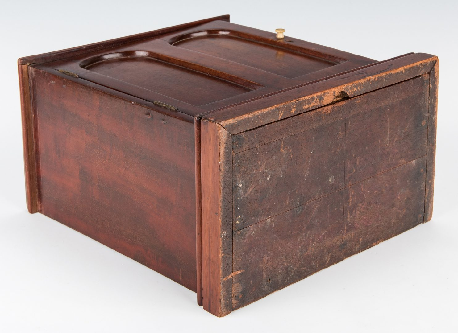 Lot 659: Miniature Inlaid Mahogany Spice Cabinet