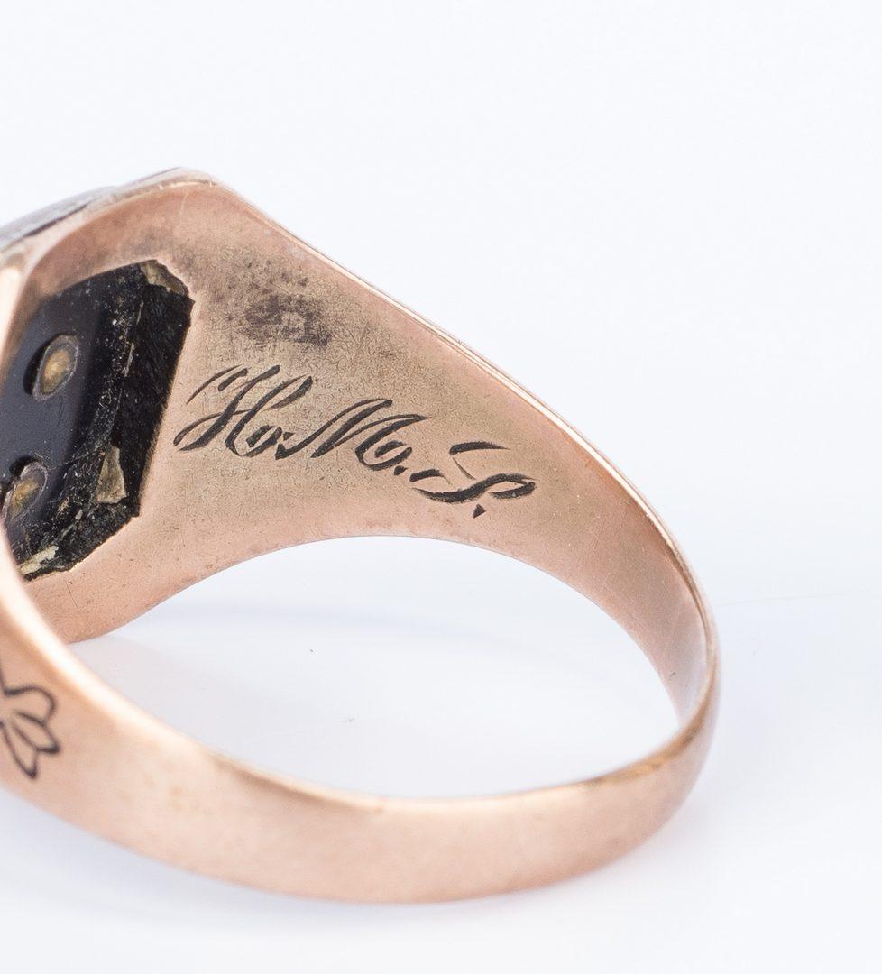 Lot 665: 13 items of 10K gold jewelry, incl. Masonic