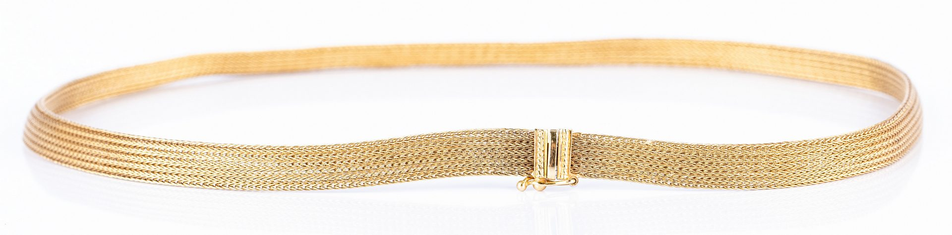 Lot 667: 18K and 14K Mesh Necklaces