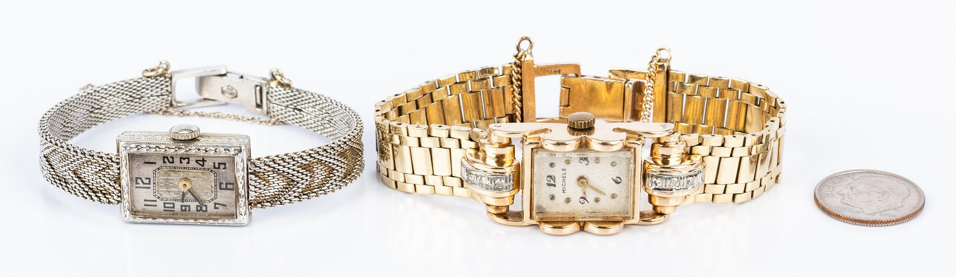 Lot 671: 2 Vintage 14K Lady's Watches