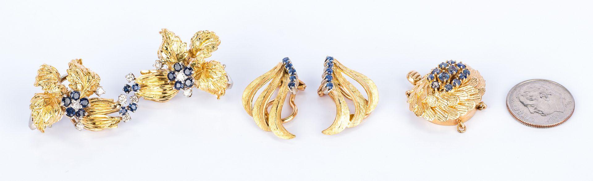 Lot 679: 18K/14K Sapphire Diamond Jewelry