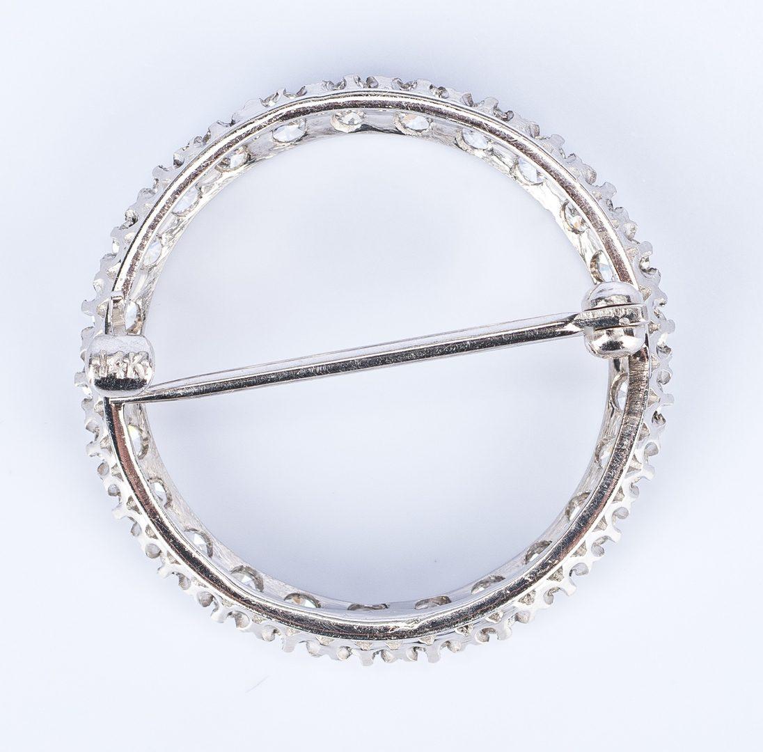 Lot 686: 3 Vintage 14K Gemstone Pins