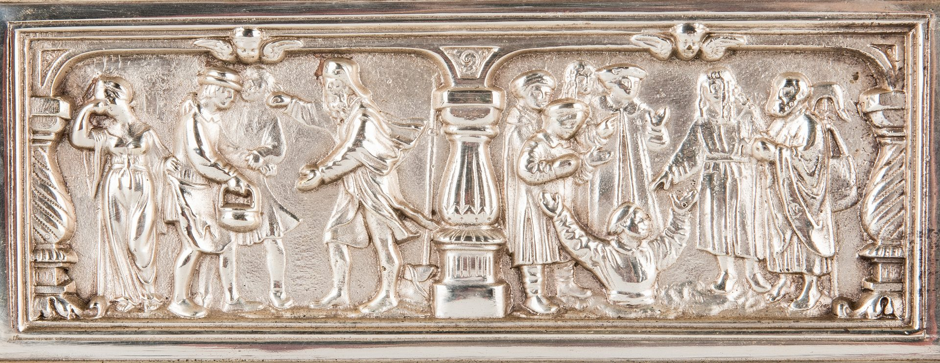 Lot 68: Silver Plated Reliquary or Money Box