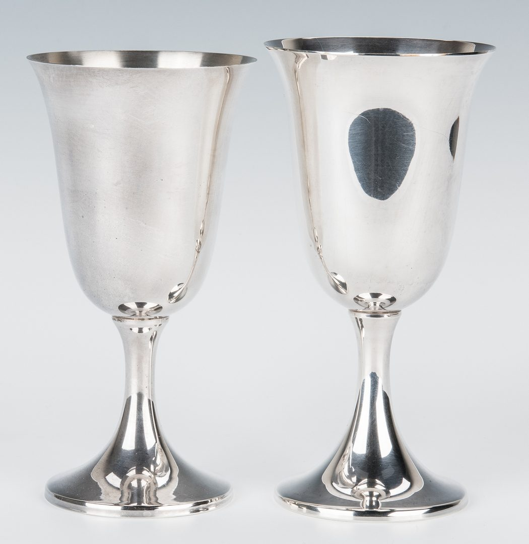 Lot 691: Sterling Silver Plates, Goblets & Cups, 37 items total