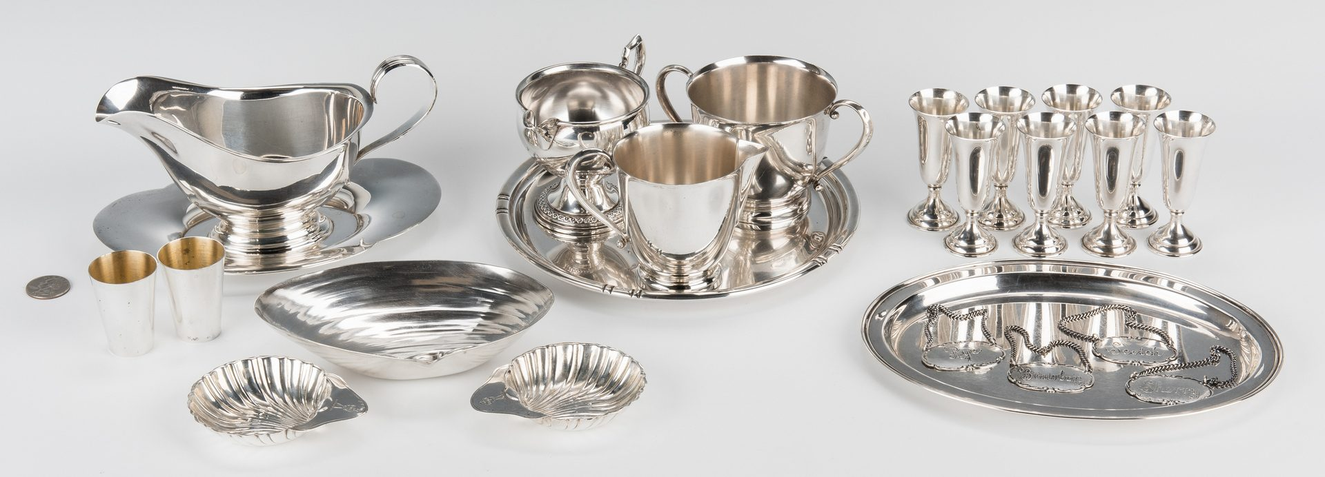 Lot 694: 23 Assorted Sterling Silver, incl. Cordials