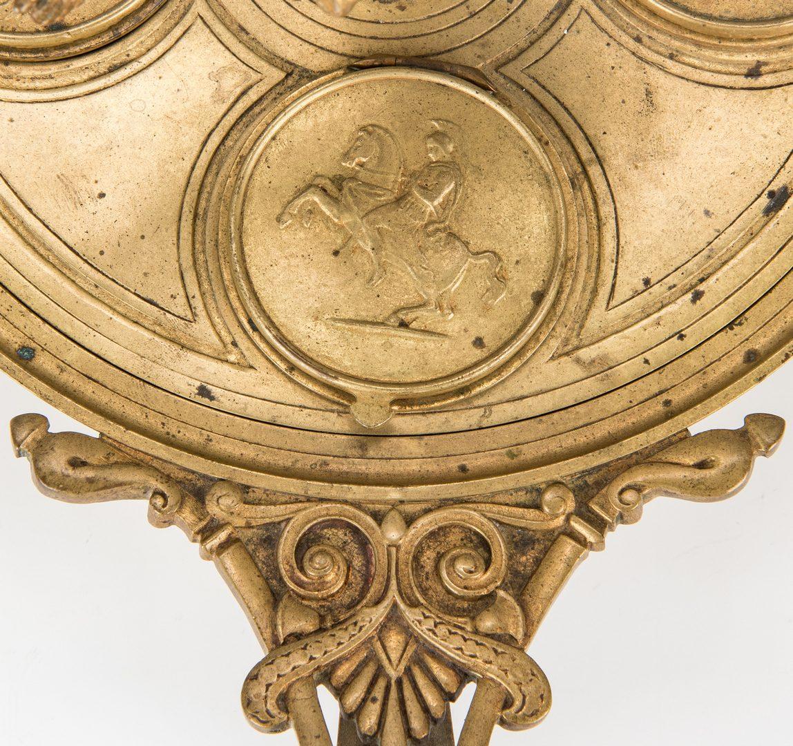 Lot 69: 2 Inkwells, incl. Classical Figure & Lion