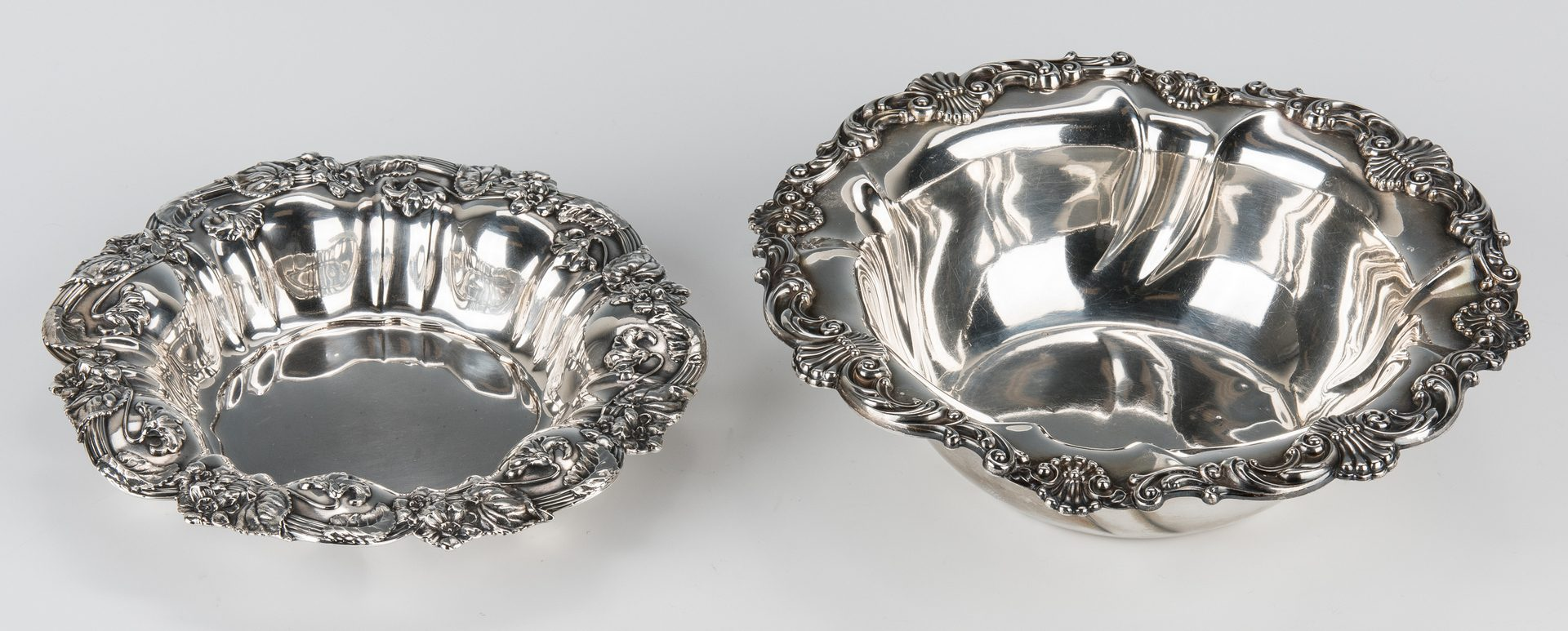 Lot 700: 3 Sterling Silver Table Items, incl. Repousse