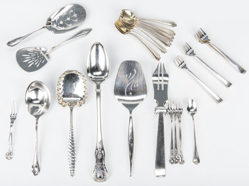 Assorted sterling silver teaspoons 1 item x 42 different lots