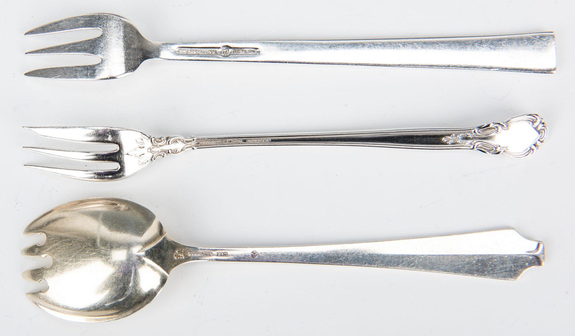 Lot 702: 32 Pcs. Assorted Sterling Silver Flatware