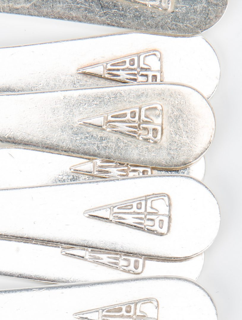 Lot 703: Gorham Sterling Flatware w/ Art Deco Monogram, 56 pcs.