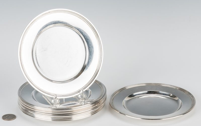 Lot 707: Tiffany & International Sterling Silver Plates