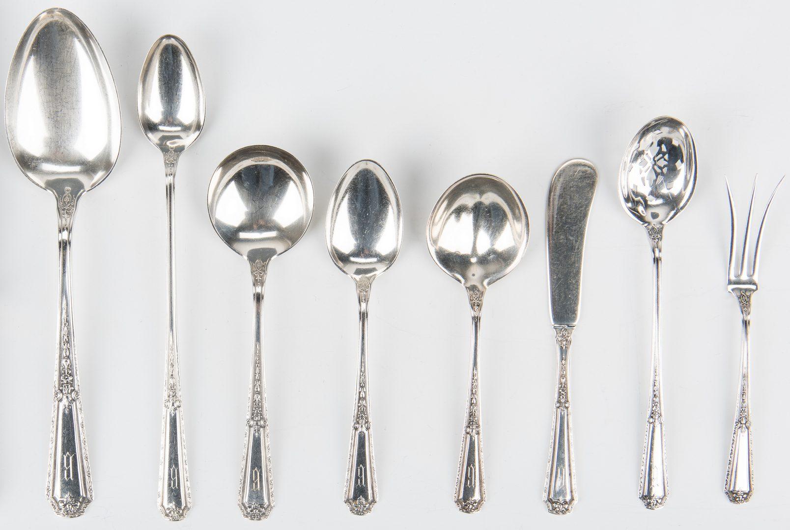 Lot 709: Towle Louis XIV Sterling Flatware, 51 items