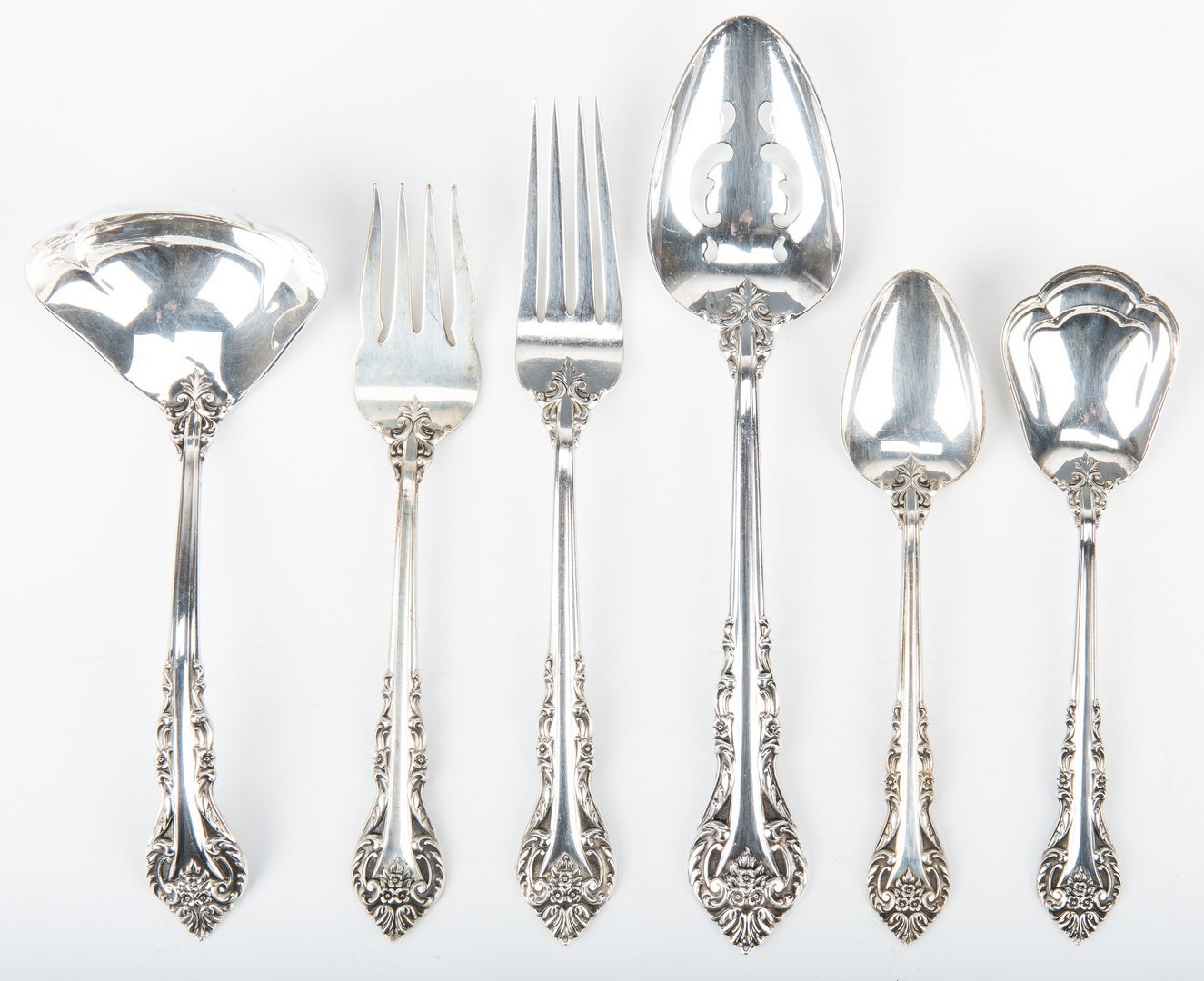 Lot 710: 43 Pcs. International Masterpiece Sterling Silver Flatware