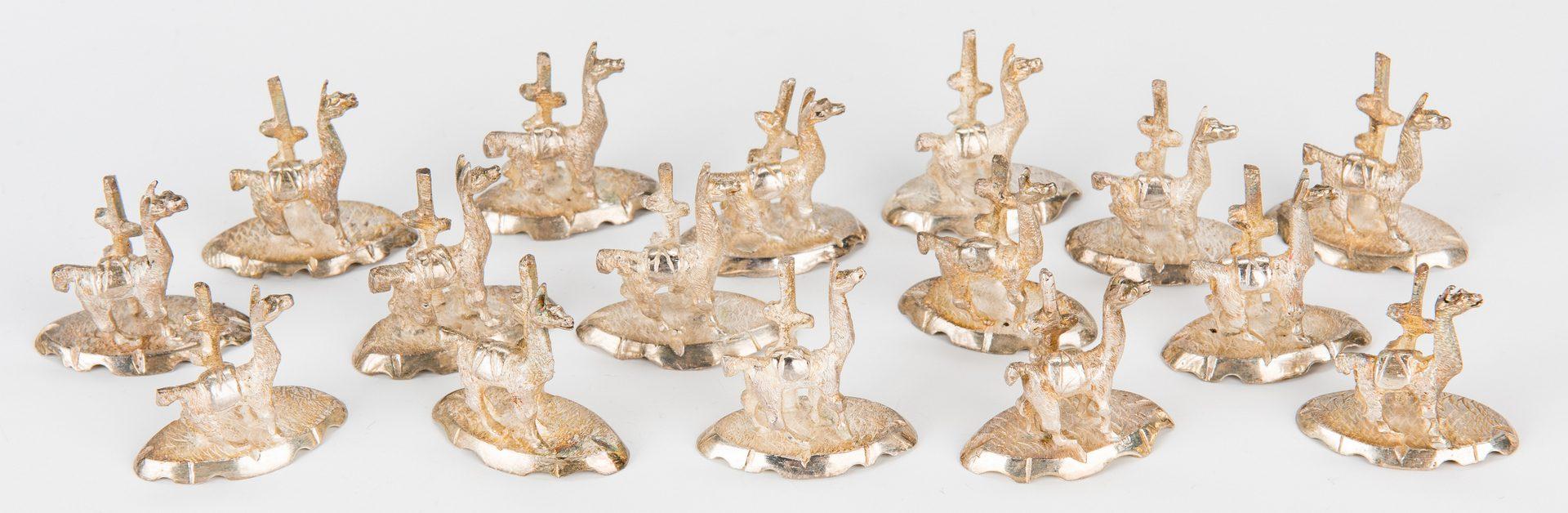 Lot 713: 74 Peruvian Sterling Items – Llama themed