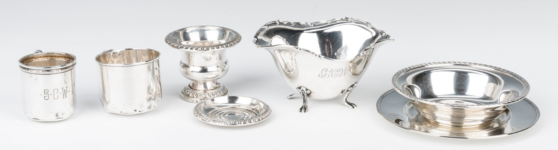 Lot 716: 50 pcs. Assorted Sterling Silver, incl. Gorham Chantilly