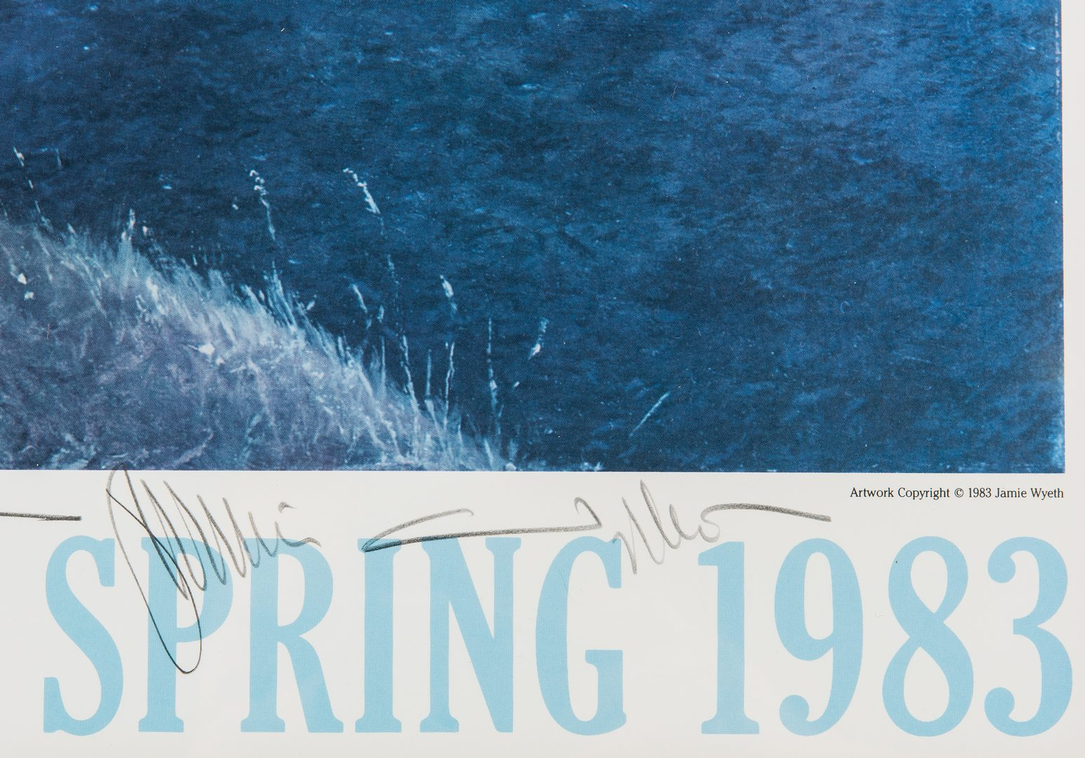 Lot 725: Jamie Wyeth Signed Print & Poster