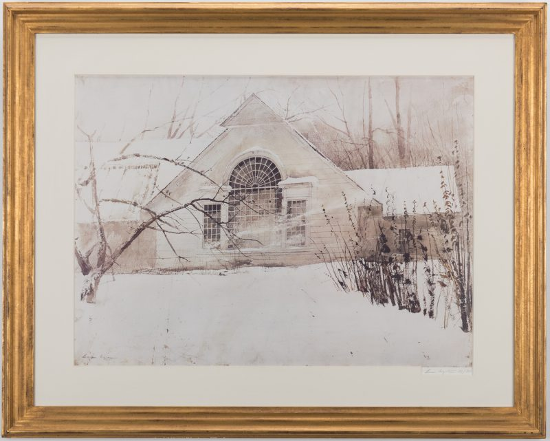 Lot 726: Andrew Wyeth Signed Print, North Light