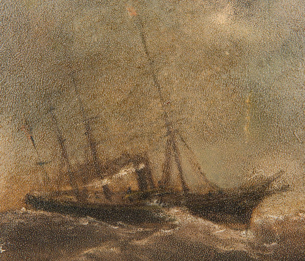 Lot 728: 2 English Marine Paintings
