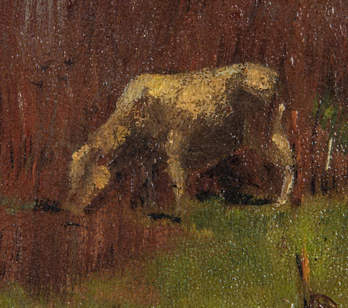 Lot 729: Ernest Parton Oil on Panel Pastoral Landscape
