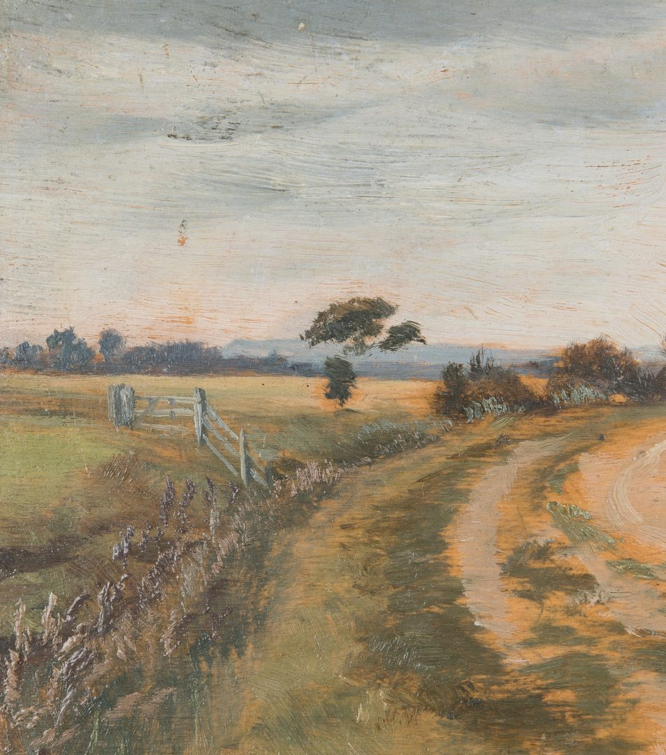 Lot 731: Country Road Pastel Landscape, attributed to Alfred Elias