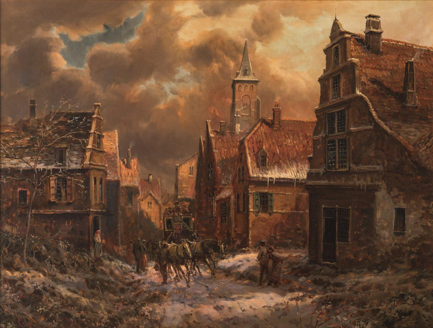 Lot 732: Emilio Payes, Winter Village Landscape