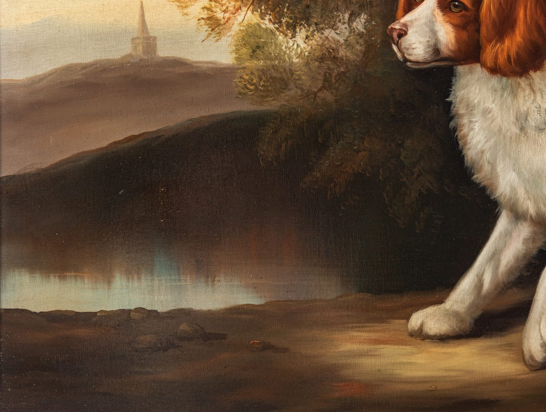 Lot 733: John Gray O/C, Portrait of a Spaniel