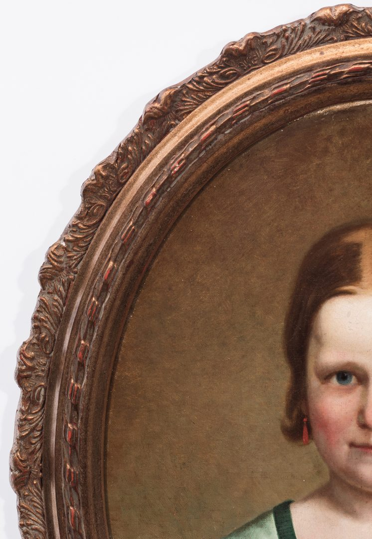 Lot 734: European Portrait of a Young Girl