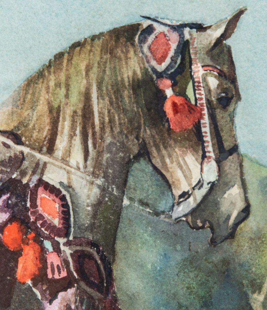 Lot 735: Robert Atwood Watercolor of Arabian Man