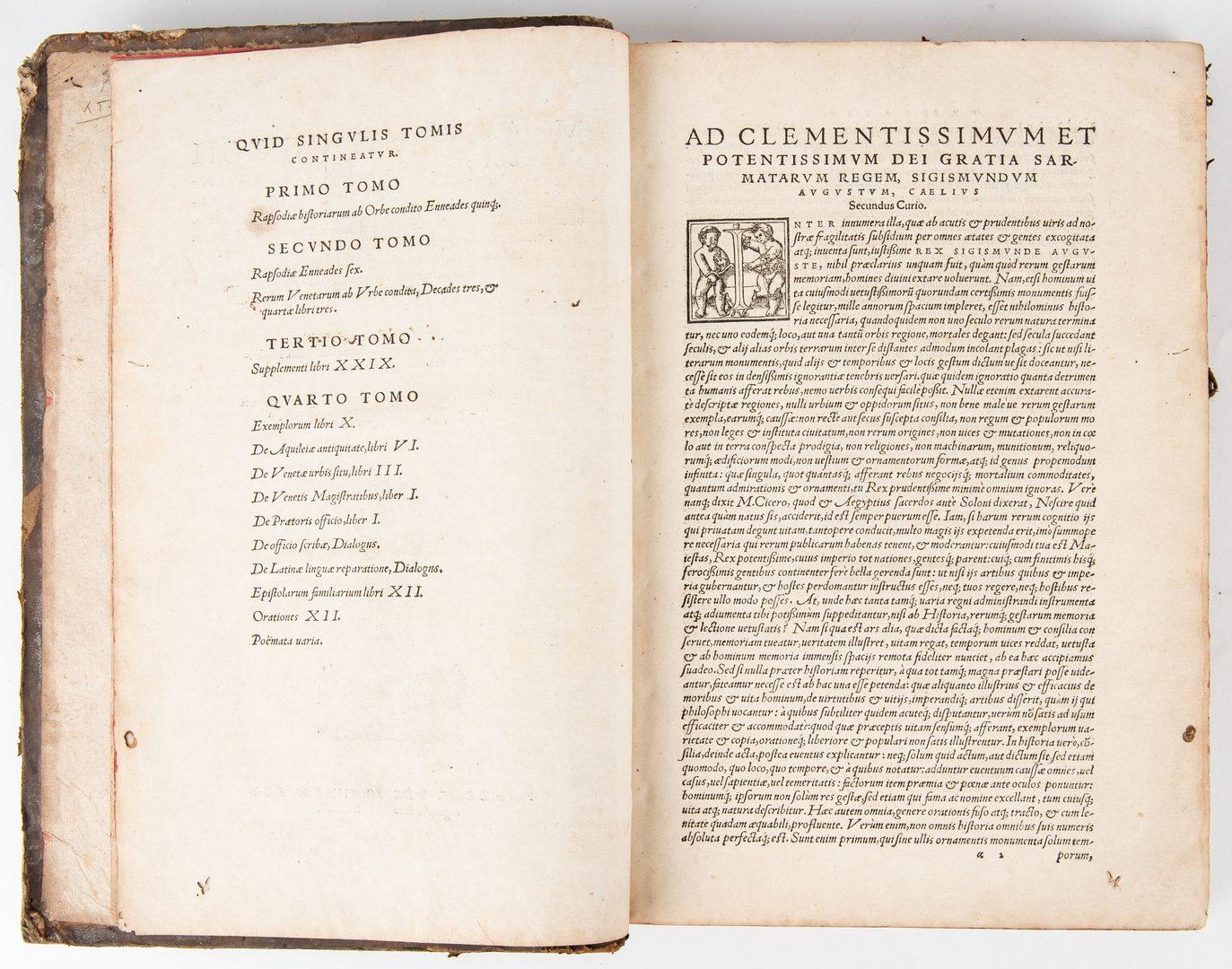 Lot 740: Sabelicy Opera Omnia, Vol. I-III, 1560
