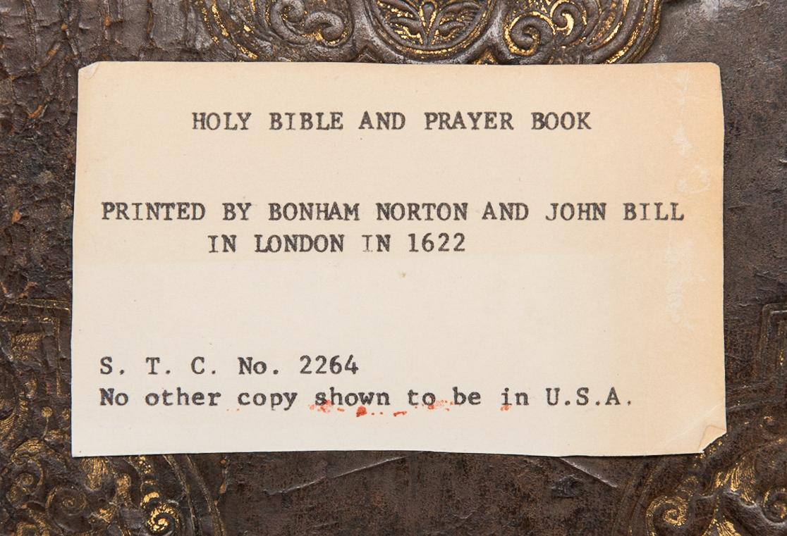 Lot 742: English Bible 1622-24, Norton & Bill
