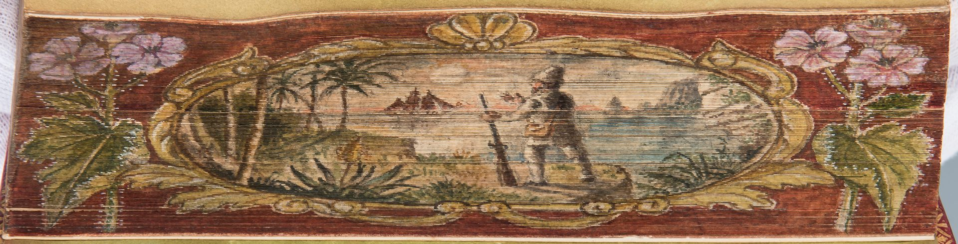 Lot 744: Double Fore-Edge Painted Robinson Crusoe, 2 Vols., 1820 Defoe