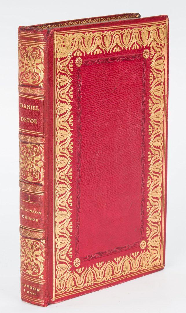 Lot 744: Double Fore-Edge Painted Robinson Crusoe, 2 Vols., 1820 Defoe