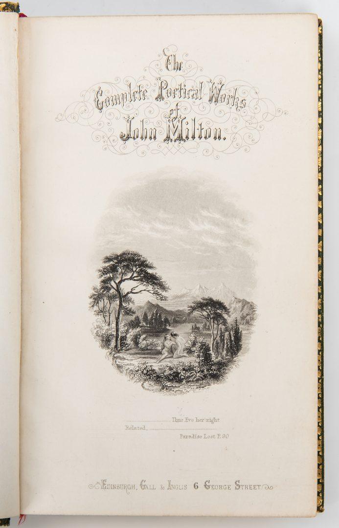 Lot 745: 5 Single Fore-Edge Painted Literary Books, Shakespeare, Tennyson, Milton
