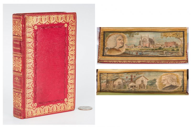 Lot 746: Double Fore-Edge Painted Joseph Andrews, 1820 Fielding