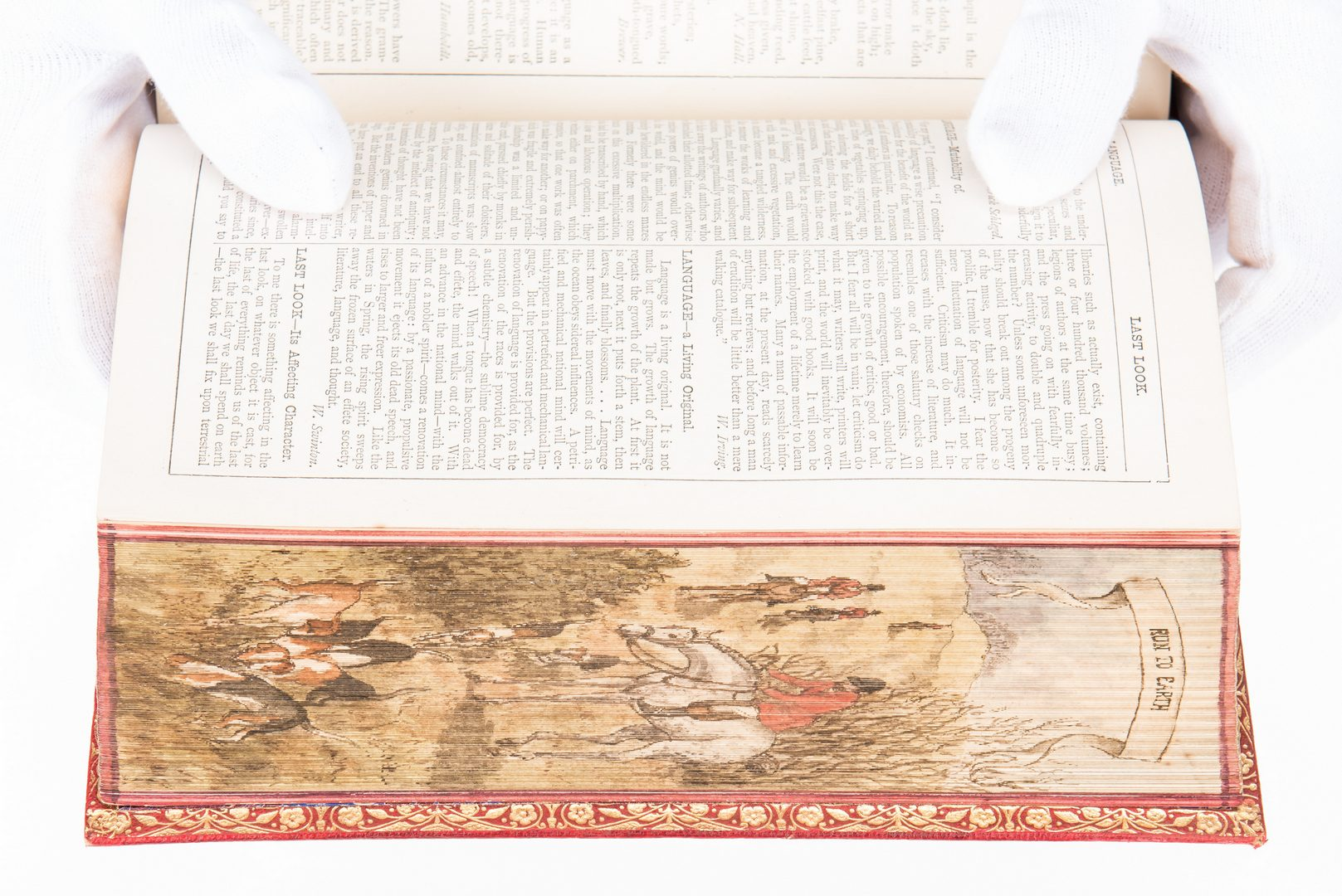 Lot 747: 3 Split Fore-Edge Painted Books, incl. Southgate, Duke of Beaufort