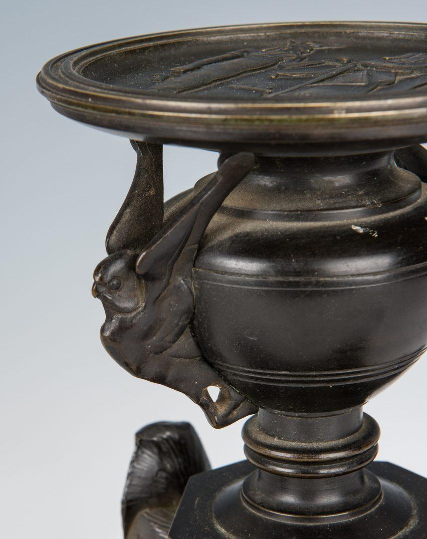 Lot 74: 3 Continental Decorative Items incl. Ball Clock