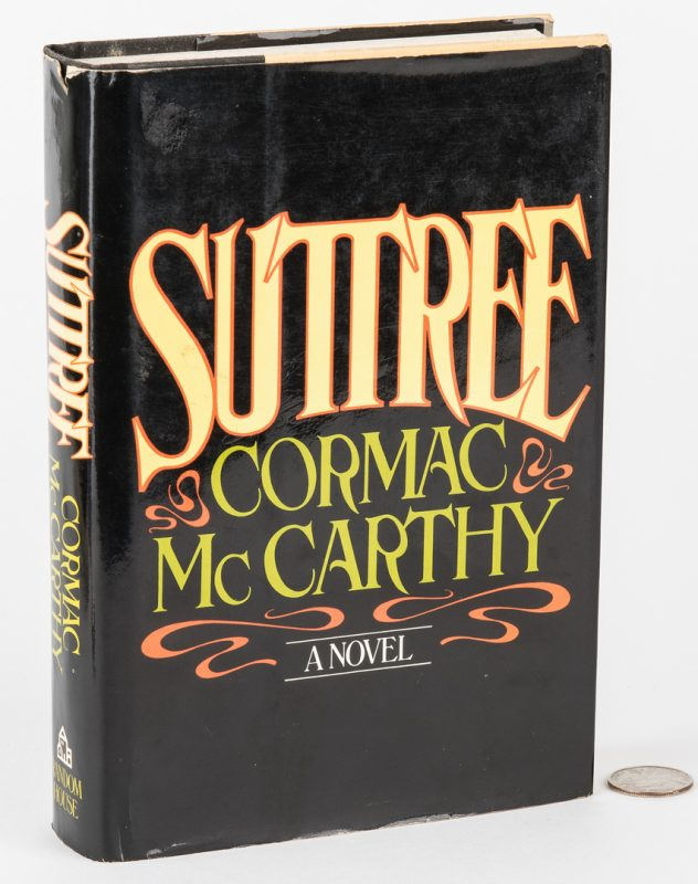 Lot 750: Cormac McCarthy, Suttree, 1st Ed., 1979