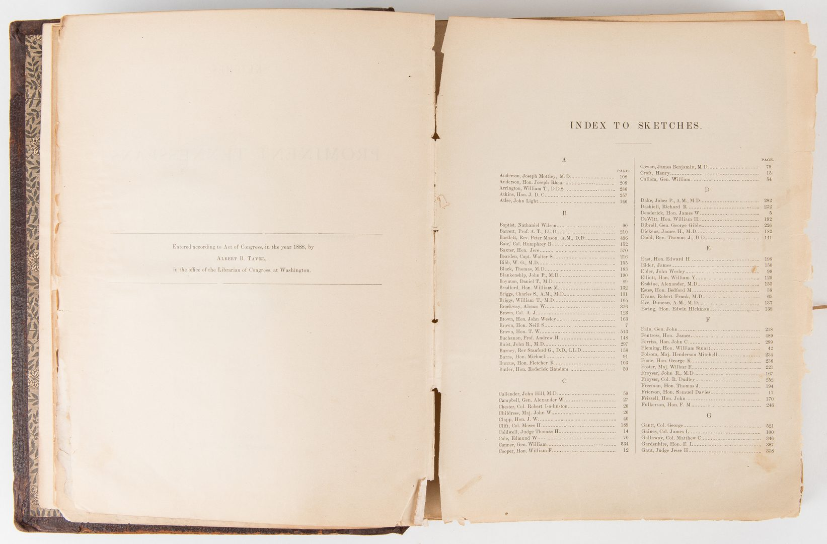 Lot 753: 2 Historic TN Books, incl. TN Gazetteer, Prominent Tennesseans