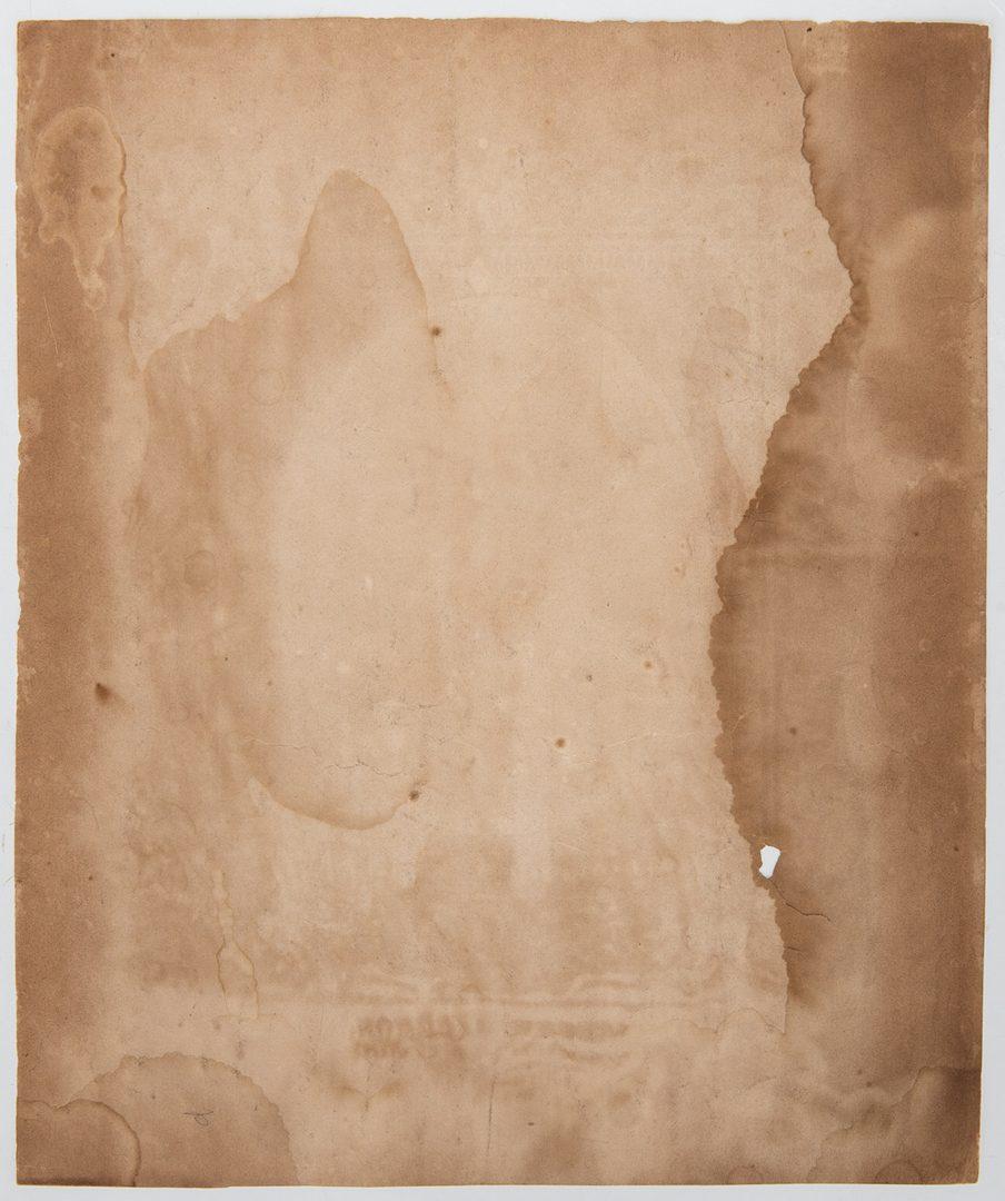 Lot 758: 2 Jackson items, incl. Printed Silk Broadside, 2nd Inauguration Speech