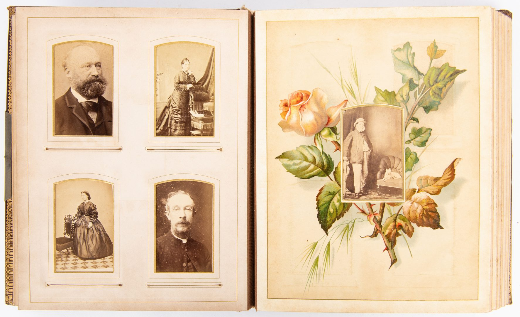 Lot 766: 4 Victorian Albums w/ 240 Photographs: India, Wales, Venice, etc.