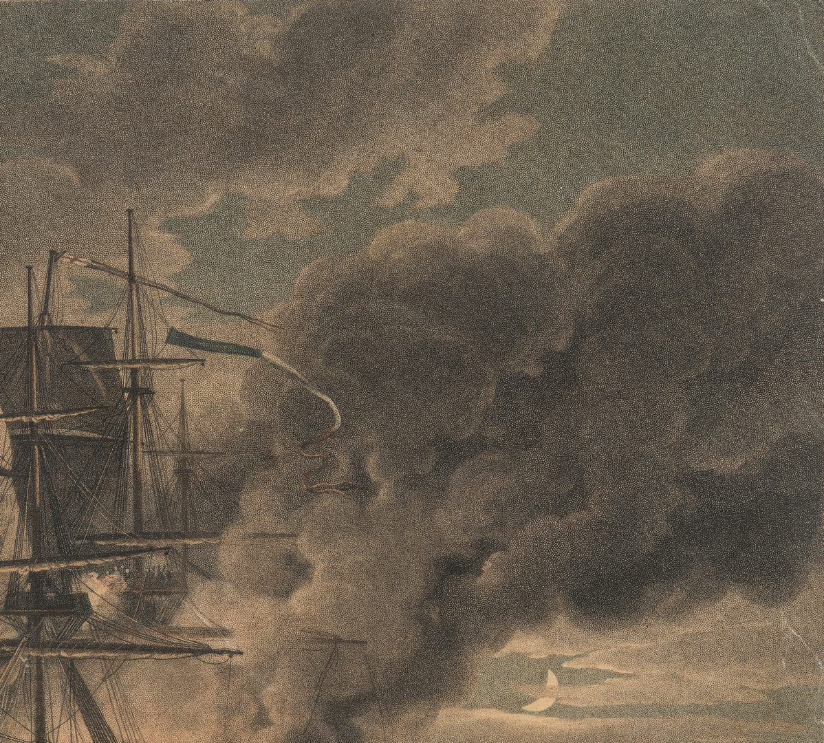 Lot 770: 2 Marine Engravings, Naval Battles