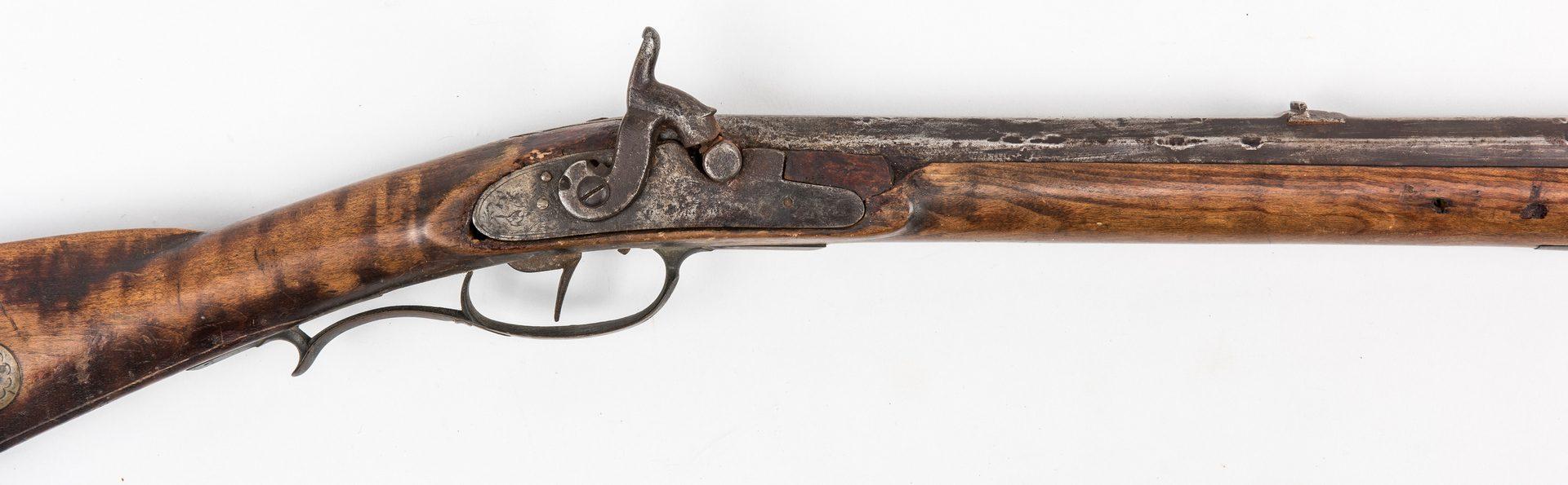 Lot 773: 2 Kentucky Percussion Long Rifles