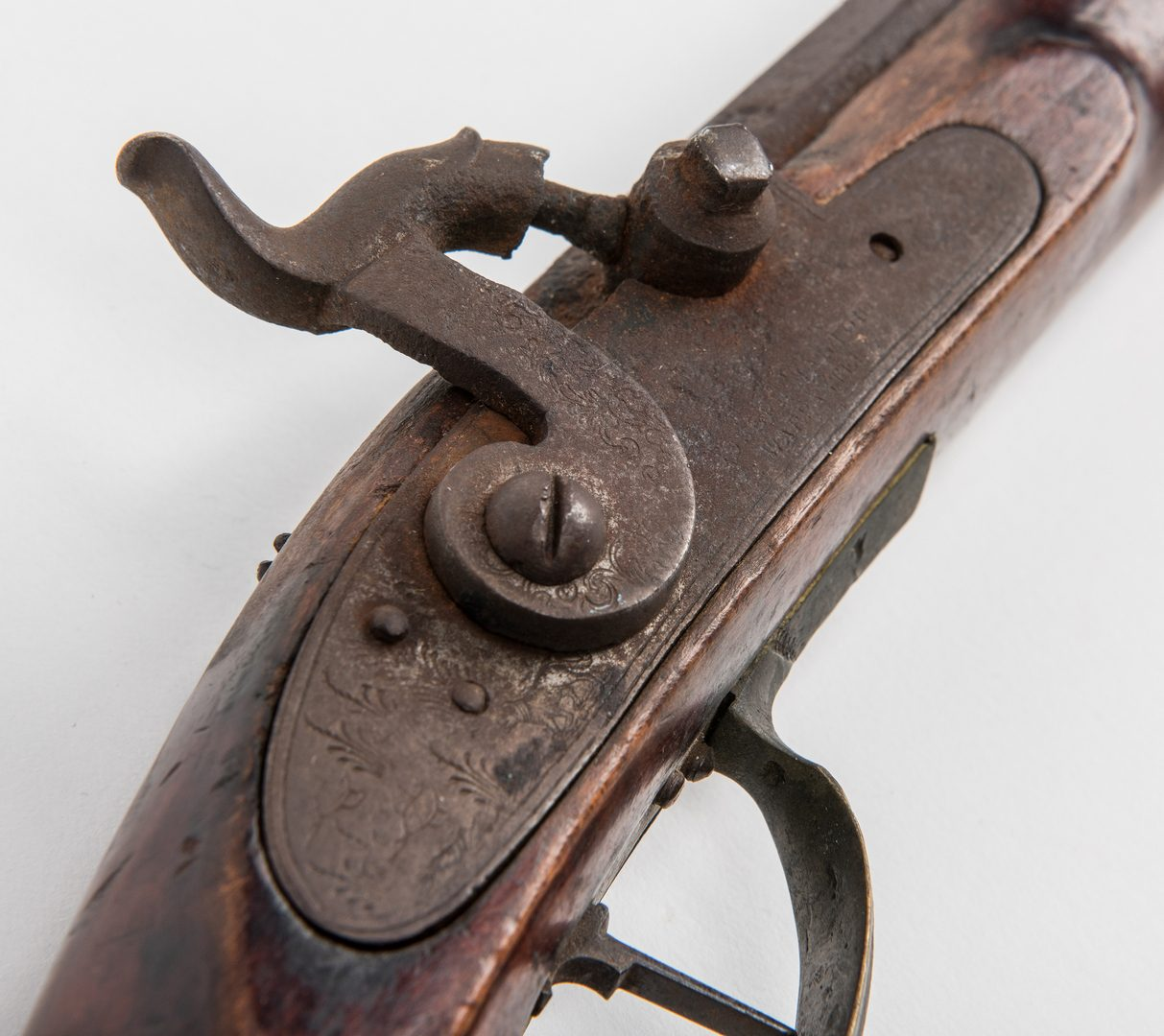 Lot 776: Full Stock Boy's Percussion Rifle, .41 cal.